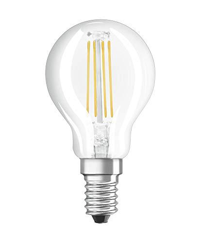 OSRAM Dimmbare Filament LED Lampe mit E14 Sockel, Warmweiss (2700K), Tropfenform, 6.5W, Ersatz für 60W-Glühbirne, klar, LED Retrofit CLASSIC P DIM