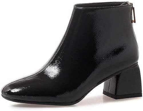 Frühling Frauen Plattform High Heels Stiefel Runde Kappe Herbst Frauen Bequeme Stiefeletten Leder Frauen Schuhe
