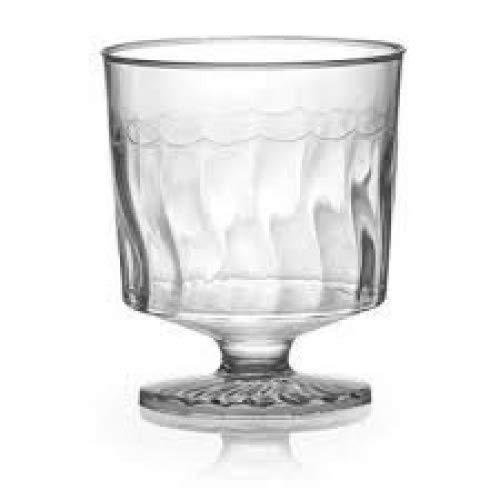 Copas de cata de vino de plástico elegantes, transparentes, 50 ml, 10...