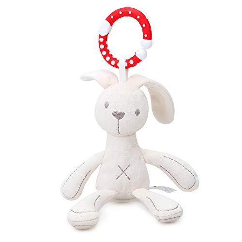 zxcc Cute Plush Doll Pendant, Baby Comfort Doll Wind Chime, Toy Long-Legged Bunny Baby, Stroller Pendant Doll, Key Ring, Wallet, Portable Key Bag, Mobile Phone Pendant Decoration Long-leggedrabbit