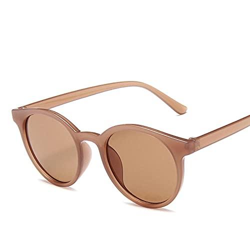 IRCATH Pequeñas Gafas de Sol Redondas para Hombres y Mujeres Estilista Espejo Negro Tintado Color Gafas para Mujeres Adecuado para Golf, Ciclismo, Gafas de Sol de Pesca-C3 Adecuado para Conducir en l