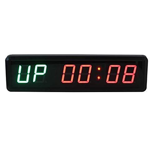 Shelf Temporizador de gimnasio LED Gimnasio Temporizador Cronómetro, Programable LED Intervalo Temporizador Reloj Cronómetro Deportes con control remoto para deportes de aptitud Gimnasio Escritorio de