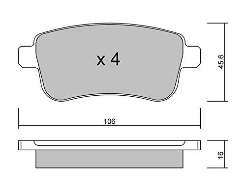 metelligroup 22-0818-0 Pastillas de Freno, Made in Italy, Repuestos para Automóviles, Certificación ECE R90, sin Cobre