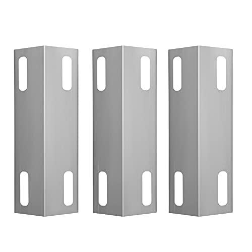WELL GRILL 3 Stück Edelstahl-Heizplatten Brennerabdeckung Flammen-Tamer Ersatzteil für ausgewählte Ducane Affinity Serie 3073101, 3000, 3200, 3300, 3400 und andere (39 cm)