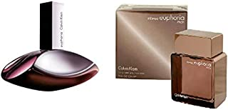 Calvin Klein Set Of 2 Calvin Klein Euphoria for Women Eau de Parfum 100ml + Calvin Klein Euphoria Men Intense for Men Eau ...