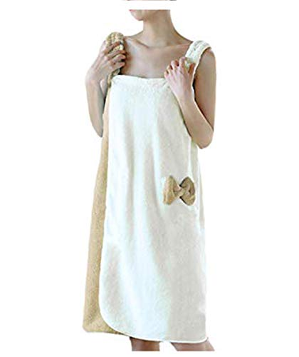 YJZQ - Albornoz de baño para mujer, sin banda para el pelo, secado rápido, efecto de esponja, ideal para el baño o sauna