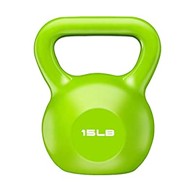 ELZXUN 15lb Weight Kettlebell Strength Training Workout Exercise Equipment for Home Gym,Cross Training, Free Weight, Weightlifting, Full Body Building Fitness for Women Men Adults by ELZXUN