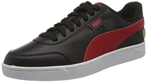 PUMA Ferrari Race Court Legend, Zapatillas Unisex Adulto, Negro Black/Rosso Corsa White, 45 EU