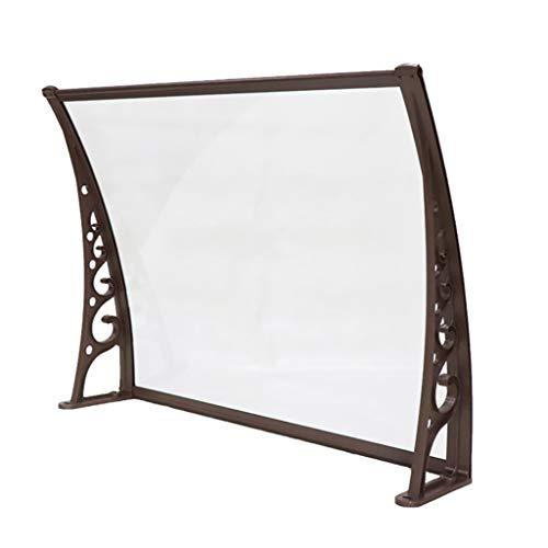 Lw Canopies luifel deurdak voor buiten lessenaarsluifel overkapping polycarbonaat transparant 60 * 80cm