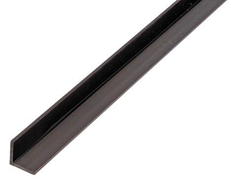 GAH-Alberts 479008 Winkelprofil-Kunststoff, schwarz, 1000 x 10 x 10 mm