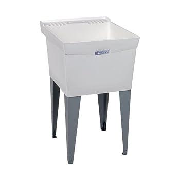Mustee 18F Utilatub Laundry Tub Floor Mount 24-Inch x 20-Inch White