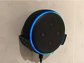 Suporte Splin de Parede para Echo Dot 3 Amazon com fixação por parafusos (preto)