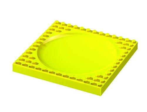 Placematix Llano Plato de plástico para niños Color Amarillo, 8.15x1.02x8.15 Inches