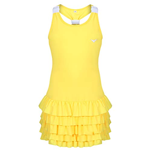 Bace Girls Tennis Dress with Underpants, Girls Golf Dress, Frill Tennis Dress with Shorts (12-13 Years)