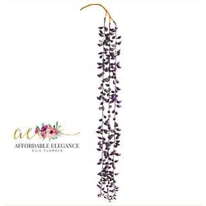 26″ Purple String of Pearls Artificial Hanging Succulent Pick Real Touch Plant