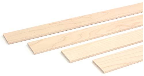 wodewa Holzleiste Wandleiste Ahorn Geölt 1m Abschlussleiste Holz 30x4mm Zierleiste für Wandverkleidung Decke Boden Abdeckleiste DIY Basteln