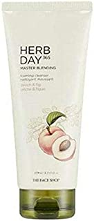 The Face Shop Herb Day 365 Master Blending Foaming Cleanser - Peach and Fig, 170 ml, 1 count