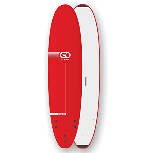 TORQ Go Softboard School Surfboard 8.6 Wide Body - Tabla de surf con cubierta de espuma