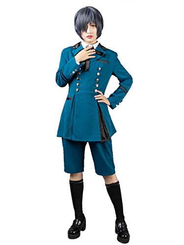 Cosfun Black Butler 2 Ciel Phantomhive Cosplay Costume Blue Sets mp003218 (Small)