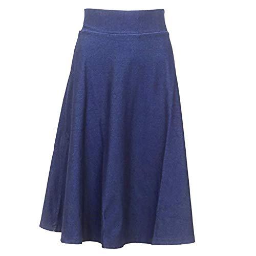 KIKI RIKI Women's Knee Length A-Line Denim Skirt Style KR41244 S
