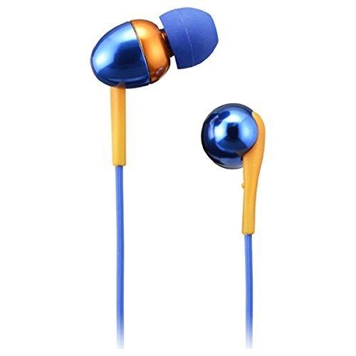 日立マクセル カナル型ヘッドホン(イヤホン) 「+FiT Aluminum」 (ブルー×オレンジ) MXH-CA220BO