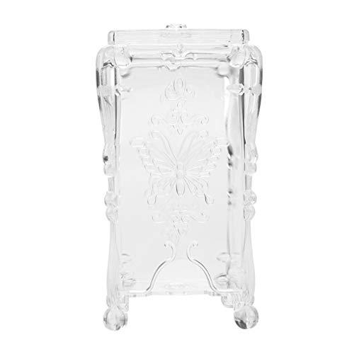 Nail Art Wipe Cotton, caja de almacenamiento de nail art fácil de limpiar, práctica caja de almacenamiento de forma única para manicuras para salón(Transparent)