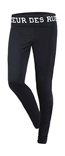 Boxeur des Rues Fight Activewear leggings met logo print op de taille voor dames