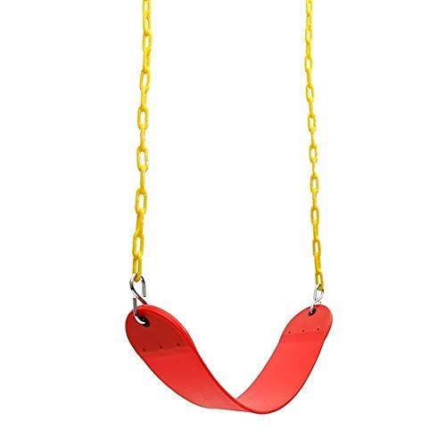 Columpio Asiento de Giro Suave de Servicio Pesado con Cadena de Hierro recubierta de plástico, Silla Colgante para jardín de jardín al Aire Libre, 67x14cm (Color : Red, Size : Style1)