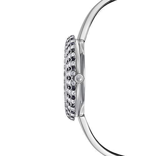 Swarovski Orologio Crystal Rose, Bracciale di Metallo, Nero, Acciaio Inossidabile