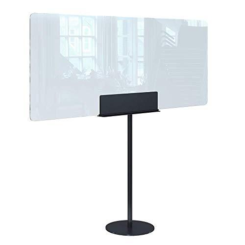 Rulopak Glastrennwand Plexiglas mit Standfuß Metall, Trenner, Trennwand, Spuckschutz, Glas (B 150 x H 140 cm)