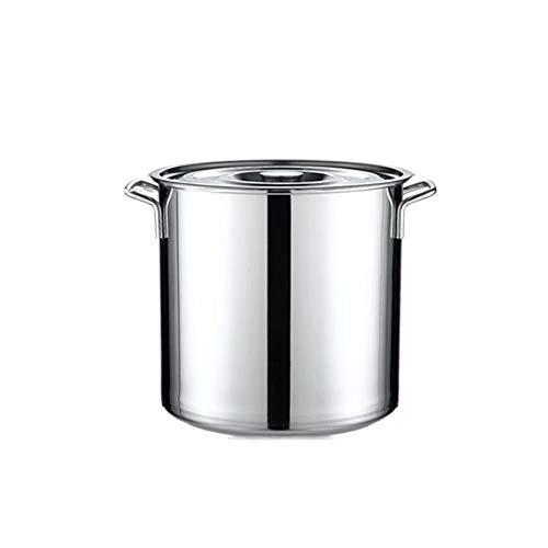 APTS-pot Baril en Acier Inoxydable Baril à Baril en Acier Inoxydable Baril avec Couvercle Grand Baril à Soupe à Huile Baril ménage Seau Baril à Riz Multi-usages 30L