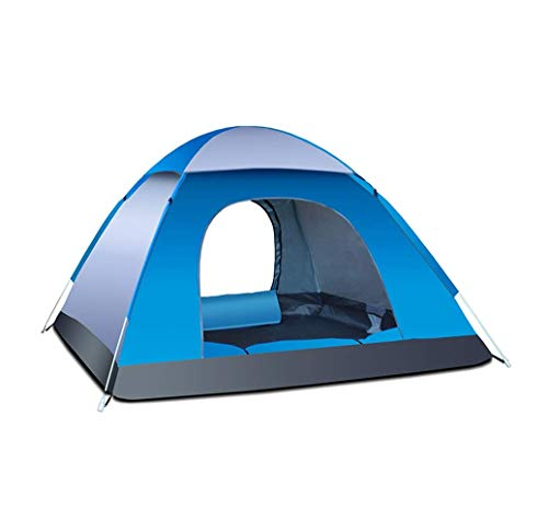 Instant Pop Up Camping Tent Waterproof 3-4 Person Camping Tent, Quick Set Up, Outdoor Hiking Backpacking Tent Shelter (B)