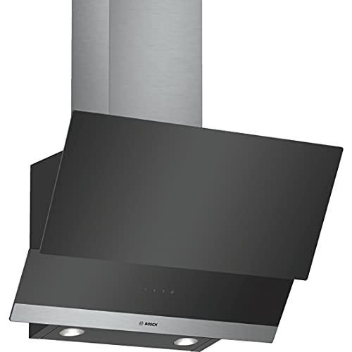 Bosch DWK065G60 hotte Monté au mur Noir, Acier inoxydable 530 m³/h C