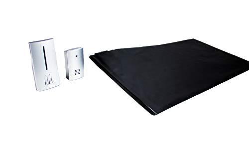 Pratoline Funk-Alarmtrittmatte - Pflegehilfe - mit 2 mobilen Funkempfänger - 70cm x 40cm - Demenz Sturzprävention - Wegläuferschutz