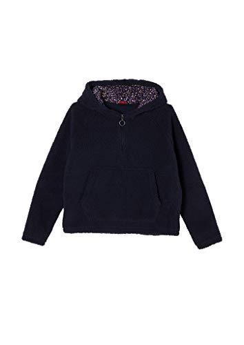 s.Oliver Mädchen Kapuzensweatshirt aus Teddy-Plüsch navy S.REG