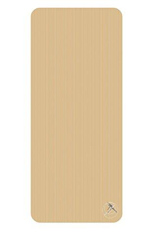 Moda Sport impulsfoto GymMat 140 de yoga, gimnasia, colchoneta de gimnasia en 140 x 60 x 1,0 cm beige, sin cuerda-ojales