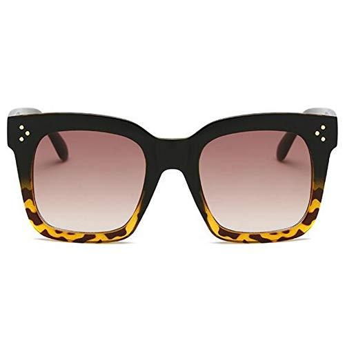 YLNJYJ Kim Kardashian Gafas De Sol De Señora Gafas Planas Lunette Femme Mujeres Marca Gafas De Sol Mujeres Remache Sun Glasse Uv400