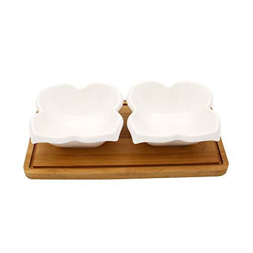 EZ Life 2 Ceramic Elegant Bowls  Dry Fruits Serving Platter