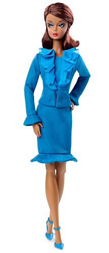 Barbie - Muñeca Fashion, Color Azul (Mattel DGW57