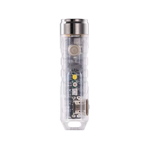 RovyVon A8x Torcia multifunzionale con luce UV, 650 lumen, torcia elettrica EDC per portachiavi