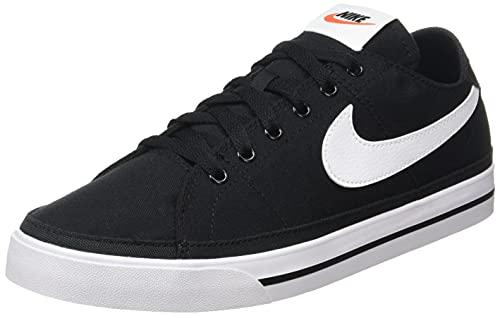 Nike Court Legacy Cnvs, Scarpe da Ginnastica Uomo, Black/White, 45 EU