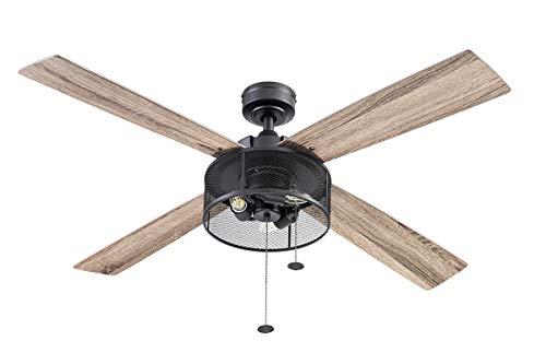 Prominence Home 51591 Mandino Ceiling Fan, 52, Black
