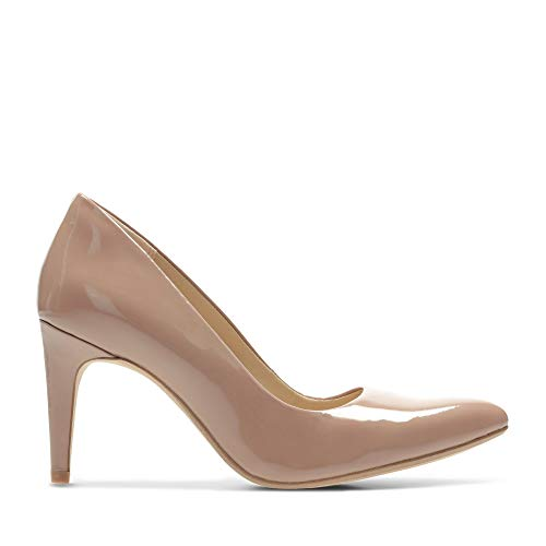 Clarks Laina RAE, Zapatos de Tacón para Mujer, Beige (Nude Patent -), 38 EU