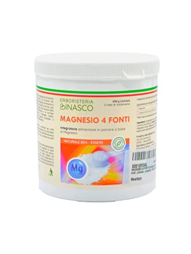 MAGNESIO SUPER PLUS 400gr polvere, 4 fonti: massima disponibilità, puro. Integratori STRESS STANCHEZZA NERVOSISMO