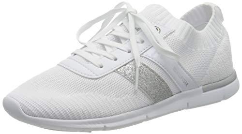 Tommy Hilfiger Skye 21d1, Zapatillas para Mujer, Blanco, 36 EU