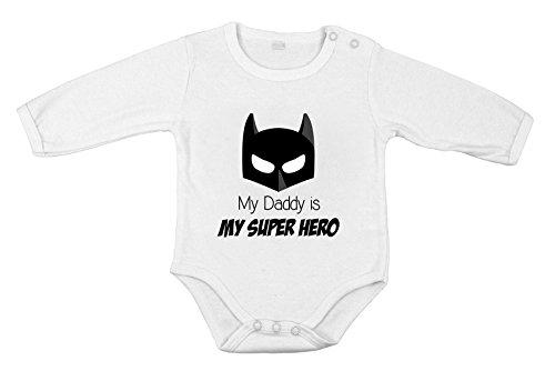 Mon Papa est Mon Super héros BabyJumpsuit Unisexe Longue One-Piece Infantile Barboteuse