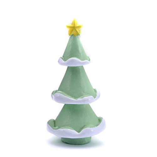 Caja 1-7pcs / Miniatura del conjunto de árbol de Navidad de Santa Claus muñecos de nieve terrario Accesorios Regalo Hada del jardín Figuras muñeca decoración de la casa Decor miniaturas (Color : 32)