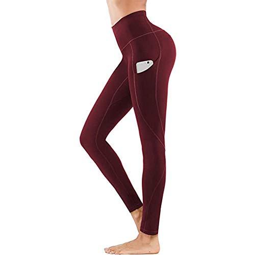 B/H Yoga Fitness Jogging y Pantalones de Golf,Leggings de Gimnasio de Cintura Alta, Medias energéticas sin Costuras para Mujeres-3_L