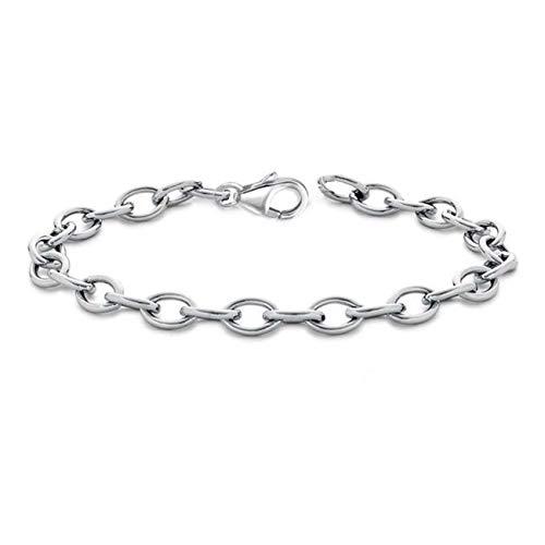 11-22cm Rolo Armband für Charm oder Anhänger 925 Echt Silber Damen Kinder Mädchen Baby (22)
