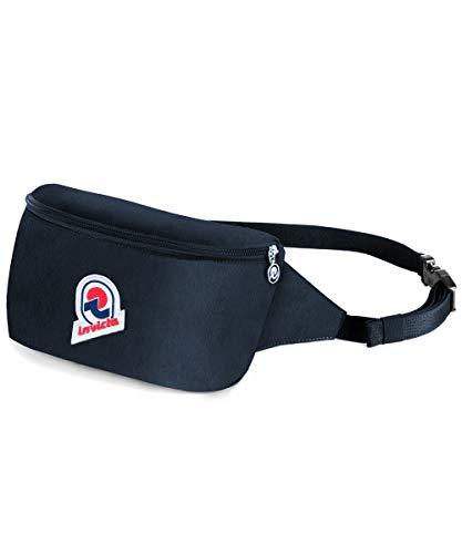 Invicta Waist Bag 25 Solid Marsupio sportivo, 25 cm, 2 litri, Nero